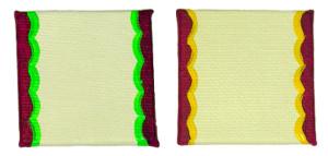 Rand der Malkartons farblich verziert