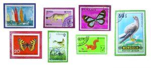 Briefmarken-Magneten Beispiele