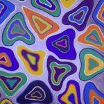 Acrylbild mit bunten Formen - dreieckig