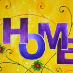Acrylbild mit HOME-Motiv