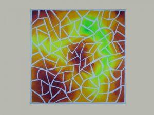 Acrylbild mit Mosaik Optik