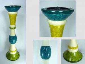 DIY Holz-Kerzenständer