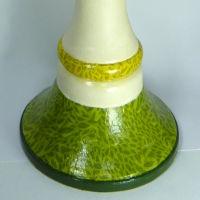 DIY Kerzenständer einzelne Bereiche mit Acrylfarbe bemalt