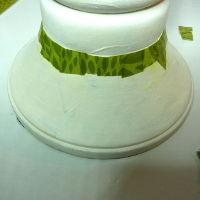 DIY Kerzenständer mit Decopatch-Papier bekleben
