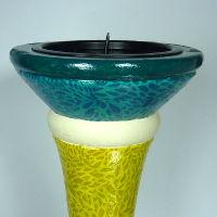 DIY Kerzenständer mit Aufsatz für Kerze