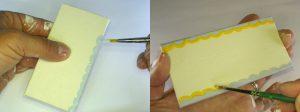 Ränder der Home Magnete mit Acrylfarbe verzieren