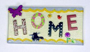 HOME-Magnet mit Buchstaben-Aufkleber