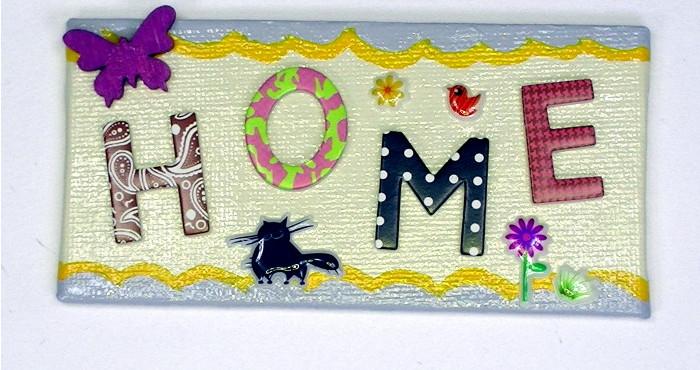 Home Magnet mit Katzen-Motiv-Sticker
