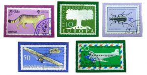 Magnete basteln mit Briefmarken