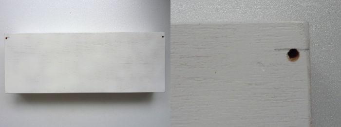 DIY Wandregal innen mit Decopatch beklebt mit einem schwarz-weiss Muster