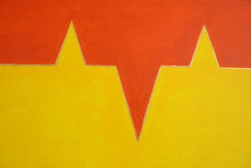 Acrylbild Ausschnitt Ansicht spitze Dreiecke