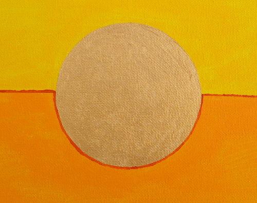 Acrylbild Ausschnitt Ansicht goldener Kreis in der Mitte