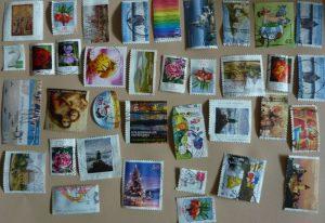 Abgelöste Briefmarken nach 30 Minuten trocknen