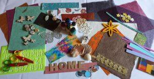 Collage erstellen Anleitung Materialübersicht