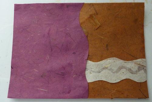 Collage Hintergrund beklebt mit Papier