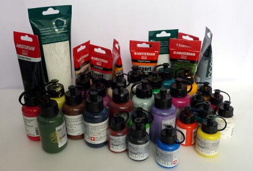 Acrylfarben in Tuben