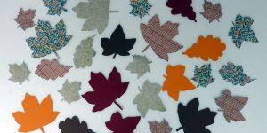 DIY Herbstblätter selber gebastelt aus Schablonen aus Herbstblätter
