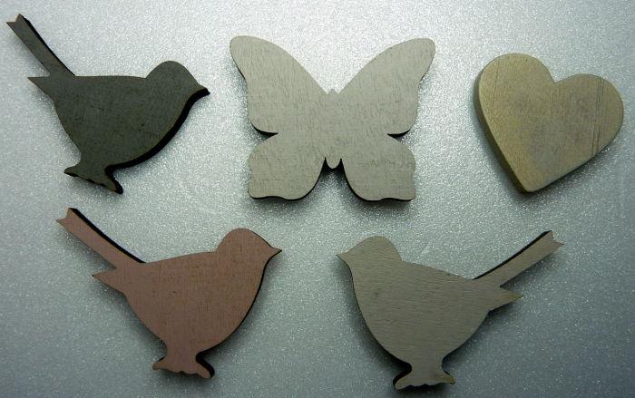 Holzelemente für Magnet Collage