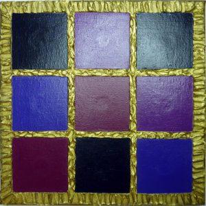 Magnetbild Leinwand 20 x 20 cm mit neun Feldern