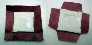 Malkarton auf Buntpapier kleben