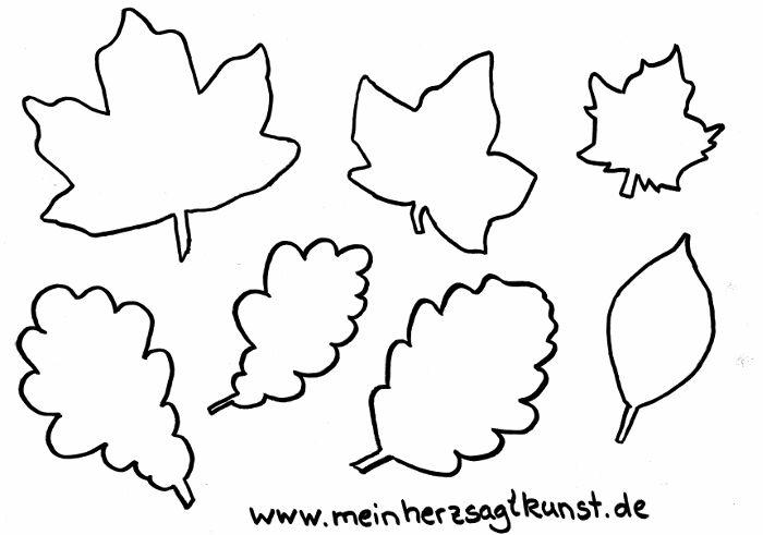 Schablonen Herbstblätter Vorlage zum Download als PDF