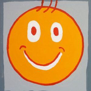 Smiley für Vorteile von Arcylfarbe