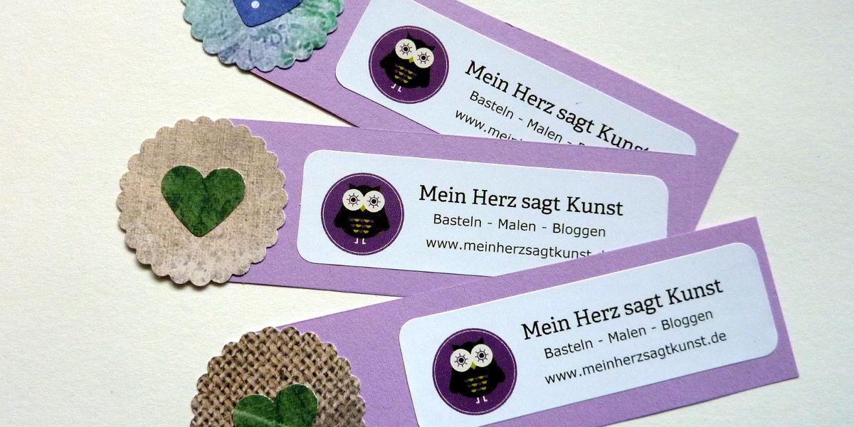 Mini Flyer selber basteln - Werbung mit Herz
