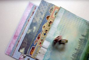 Scrapbooking Papier und Dekotape