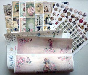 Vintage Papier und Decoupage Papier