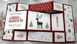 Weihnachtskarten stempeln Workshop Kreativ Welt
