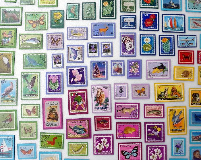 Briefmarken-Magnete - einfach und wunderschön