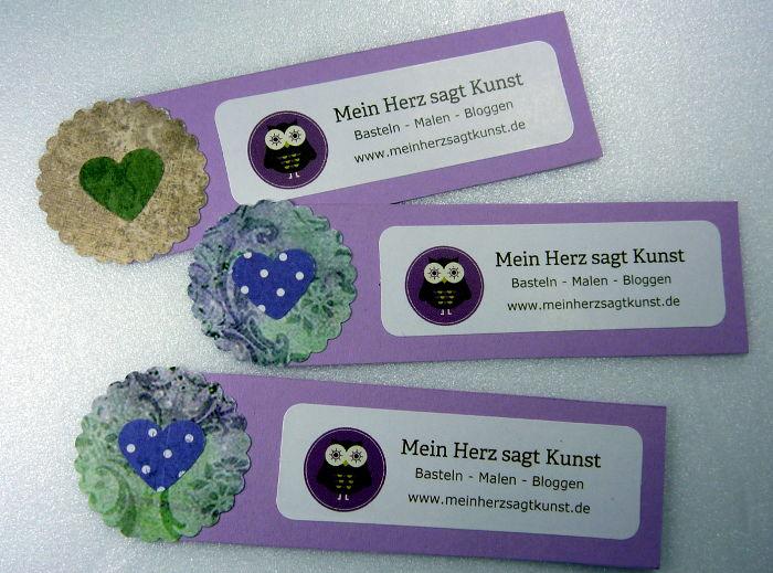 Do-it-yourself Mini Flyer Mein Herz sagt Kunst in flieder