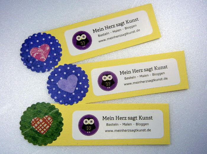 Do-it-yourself Mini Flyer Mein Herz sagt Kunst in gelb