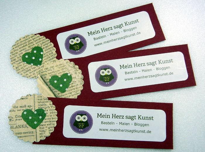 Do-it-yourself Mini Flyer Mein Herz sagt Kunst in rot
