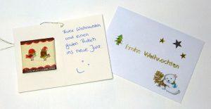 Weihnachtskarte mit Magnet und Briefumschlag