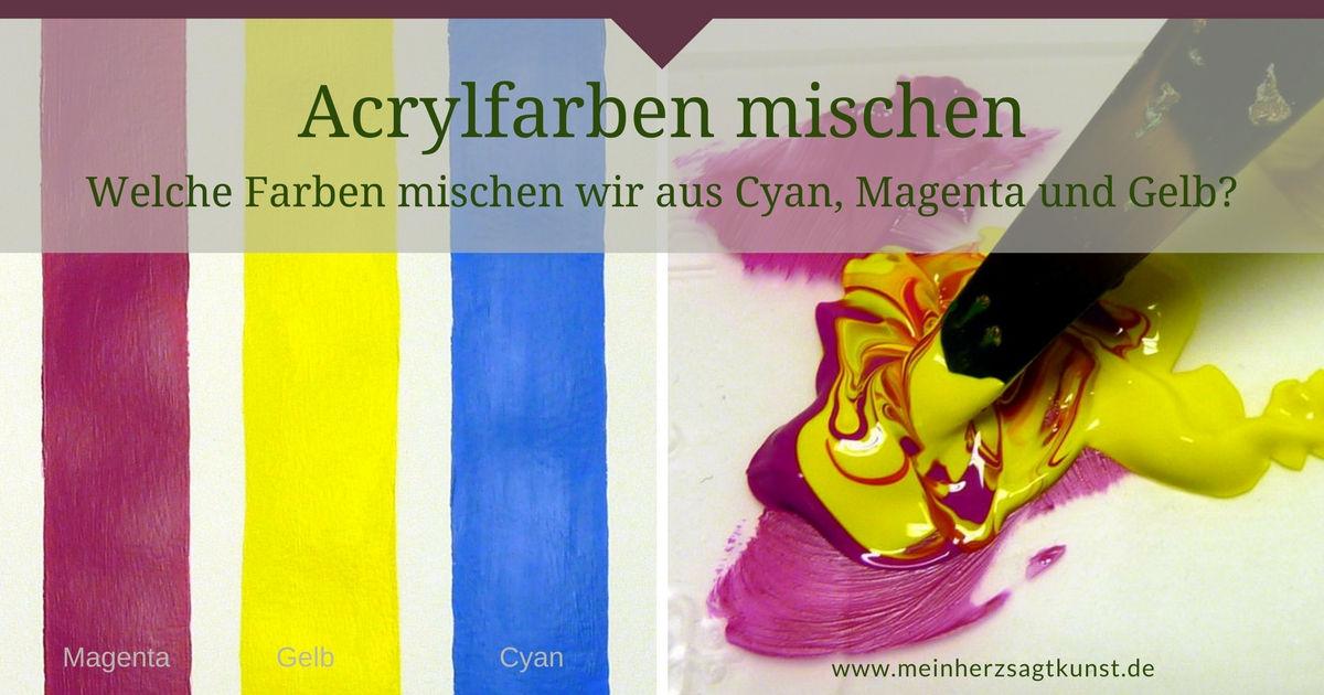 Acrylfarben mischen - Welche Farben mischen wir aus Cyan, Magenta und Gelb?
