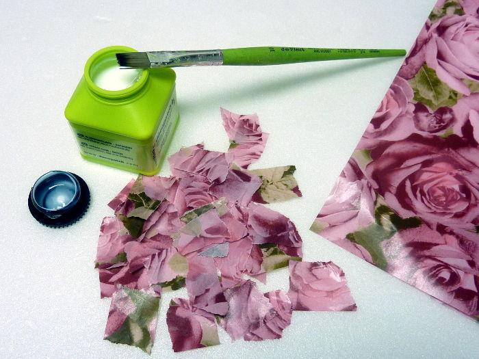 Decopatch Papier und Kleber mit Pinsel