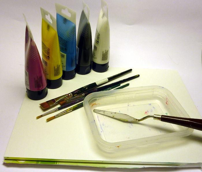 Übersicht: Grundausstattung Acrylmalerei