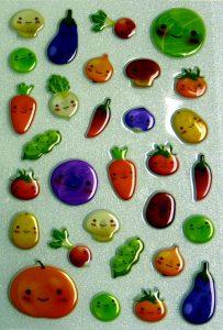Softsticker mit Gemüse Motiven