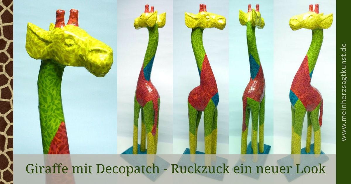 Decopatch Giraffe – Ruckzuck ein neuer Look