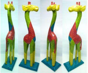 Decopatch Giraffe von allen Seiten