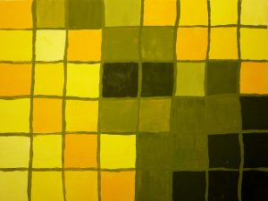 Qualitätskontrast: Gelb abgetönt mit Weiß und verdunkelt mit Schwarz