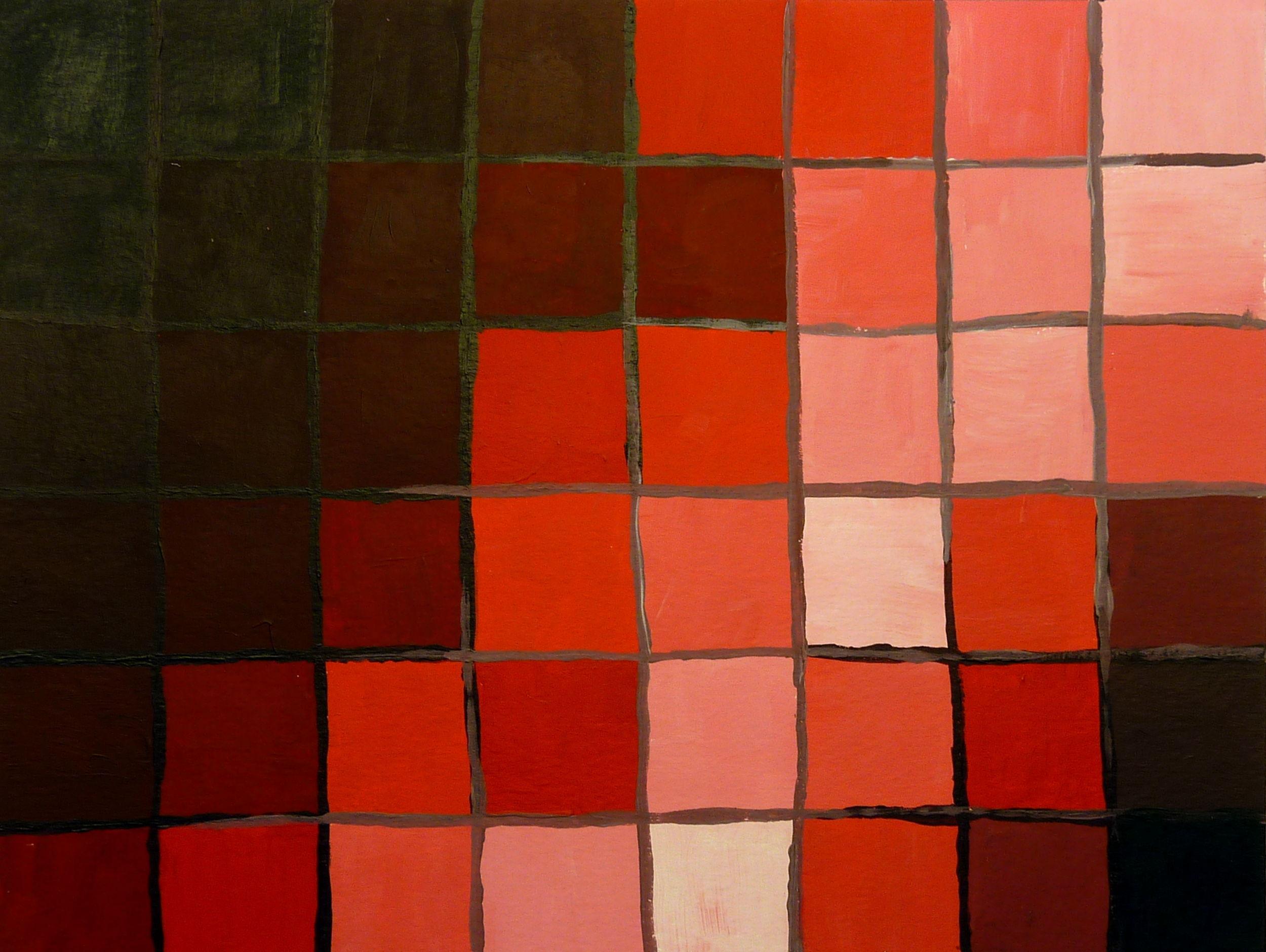 Qualitätskontrast: Rot abgetönt mit Weiß und verdunkelt mit Schwarz