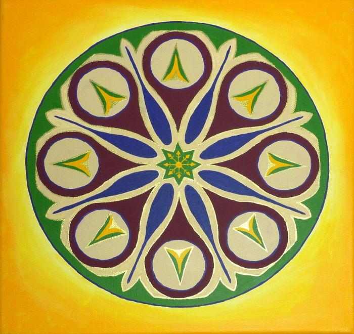 Mandala Acrylbild