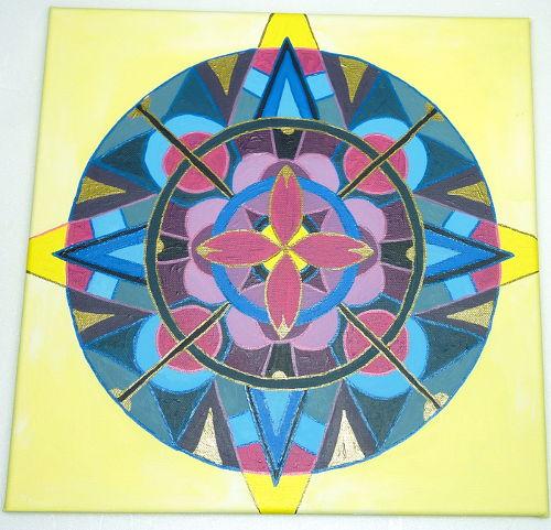 Mandala ausgemalt und mit Umrandung