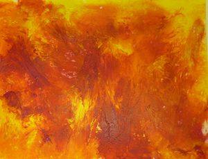 Acrylmalerei Mischtechnik Folientechnik Magenta und Gelb
