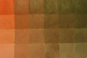 Braun Mischübung mit Magenta, Gelb und Schwarz