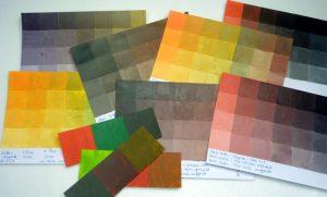 Farbkarten vom Braun mischen