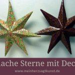 Pappmache Sterne mit Decopatch - Weihnachtsdeko selbst gemacht