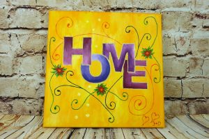 Acrylbild abstrakt malen mit HOME Motive